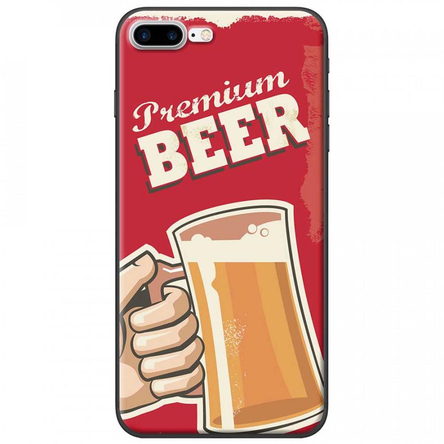 Ốp lưng dành cho iPhone 7 Plus mẫu Ly bia nền đỏ