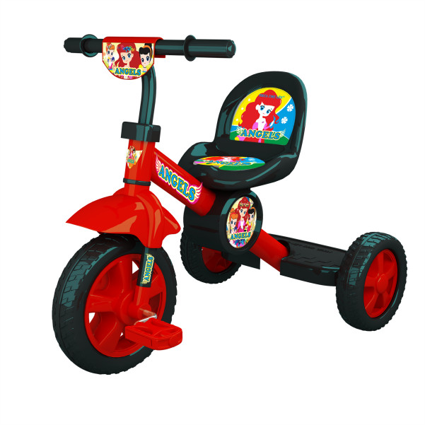 Xe đạp 3 bánh Nhựa Chợ Lớn L11 Angels - M1617-X3B-Giao màu ngẫu nhiên