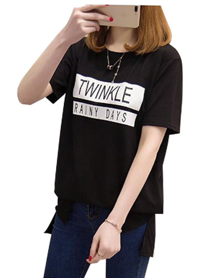 Áo thun nữ twine màu đen d327 thương hiệu Td