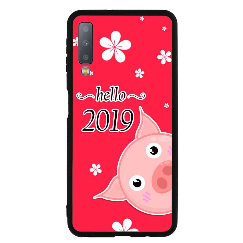 Ốp lưng nhựa cứng viền dẻo TPU cho điện thoại Samsung Galaxy A7 2018 - Pig 2019 Mẫu 2
