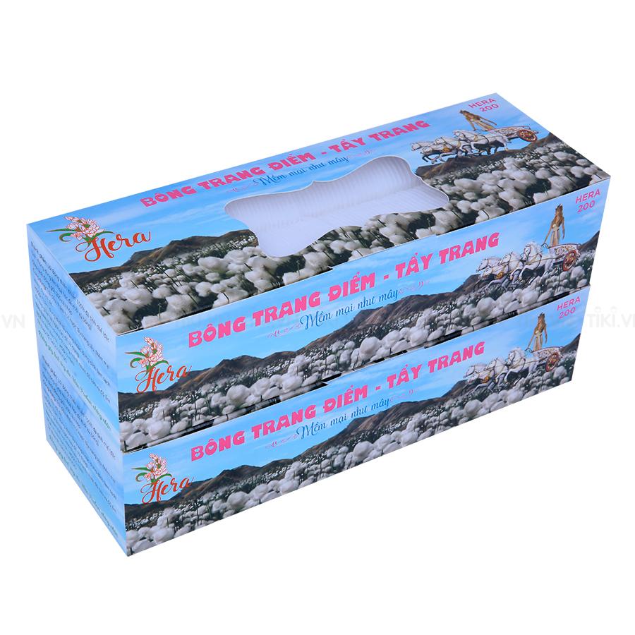 Combo 2 Hộp Bông Trang Điểm- Tẩy Trang Hera (200 Miếng / Hộp)