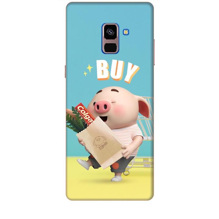 Ốp lưng dành cho điện thoại  SAMSUNG GALAXY A8 PLUS 2018 Heo Con Mua Sắm