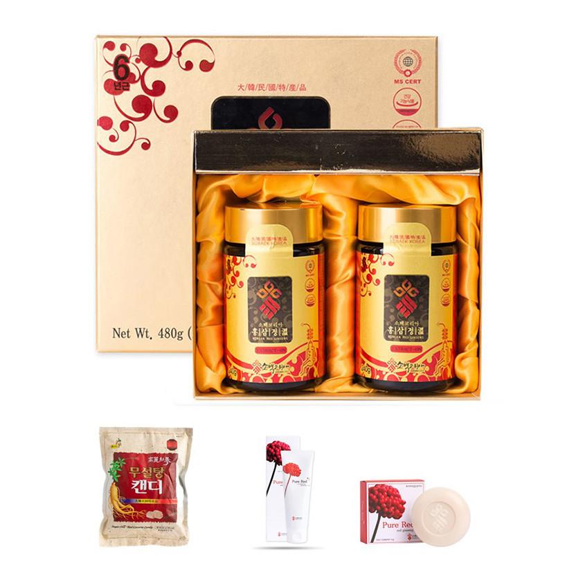 Hộp 2 hũ cao hồng sâm 6 năm Sobaek - Tặng kèm 1 kẹo hồng sâm không đường 500g + Sữa rửa mặt hoa sâm Sobaek 100 ml +... - 1534678 , 9466576115448 , 62_11420134 , 1700000 , Hop-2-hu-cao-hong-sam-6-nam-Sobaek-Tang-kem-1-keo-hong-sam-khong-duong-500g-Sua-rua-mat-hoa-sam-Sobaek-100-ml-...-62_11420134 , tiki.vn , Hộp 2 hũ cao hồng sâm 6 năm Sobaek - Tặng kèm 1 kẹo hồng sâm k