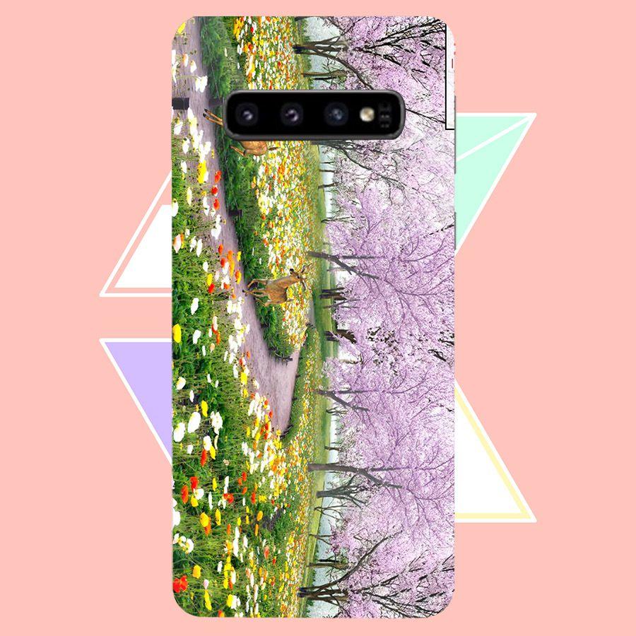 Ốp điện thoại kính cường lực cho máy Samsung Galaxy S10 - Vườn Hoa MS VHOA056 - Hàng Chính Hãng