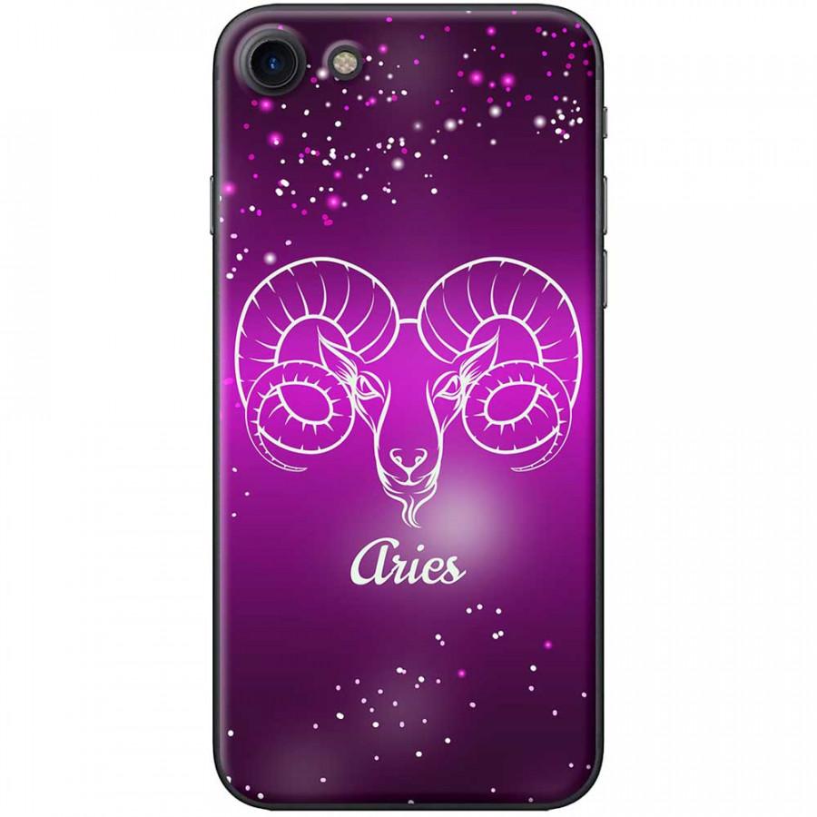 Ốp lưng  dành cho iPhone 7, iPhone 8 mẫu Cung hoàng đạo Aries (hồng)