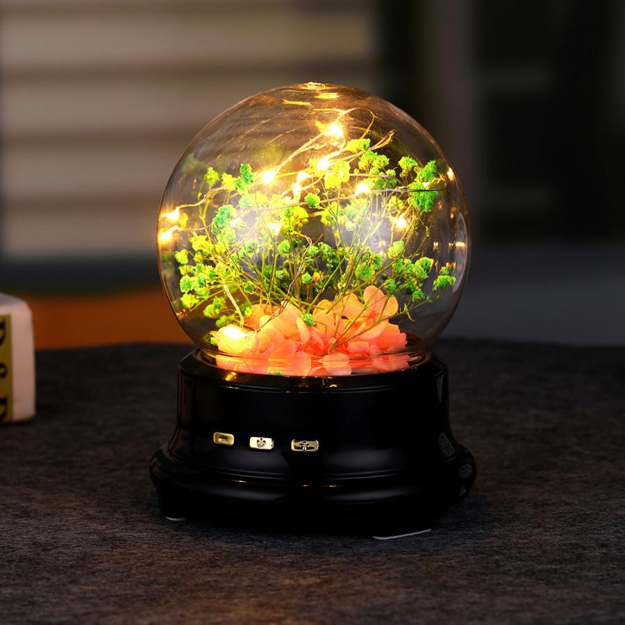Dreamlike Music Lamp LED Night Light USB Charging Spherical Sound Acoustics Tabletop Decorative Voice Speaker