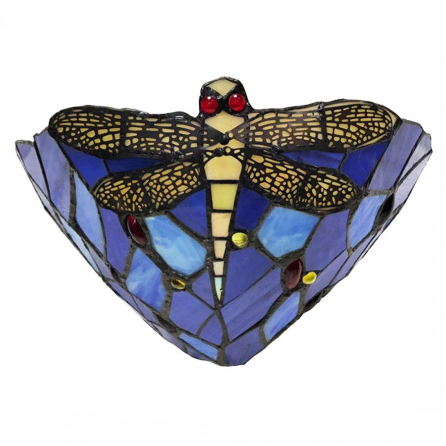 Tiffany Color Glass Dragonfly Style European Corridor Bedroom Balcony Wall Lamp Lhj-178093 Australian Rules