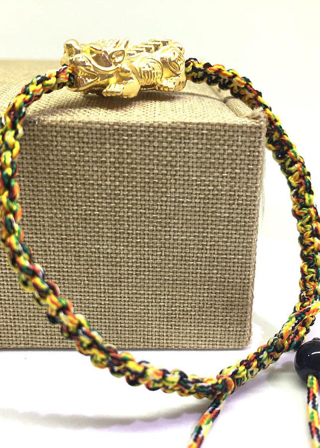 Vòng tay Tỳ Hưu bạc 925 mạ vàng thắt dây ngũ sắc - 1824603 , 4271136205201 , 62_13495160 , 420000 , Vong-tay-Ty-Huu-bac-925-ma-vang-that-day-ngu-sac-62_13495160 , tiki.vn , Vòng tay Tỳ Hưu bạc 925 mạ vàng thắt dây ngũ sắc
