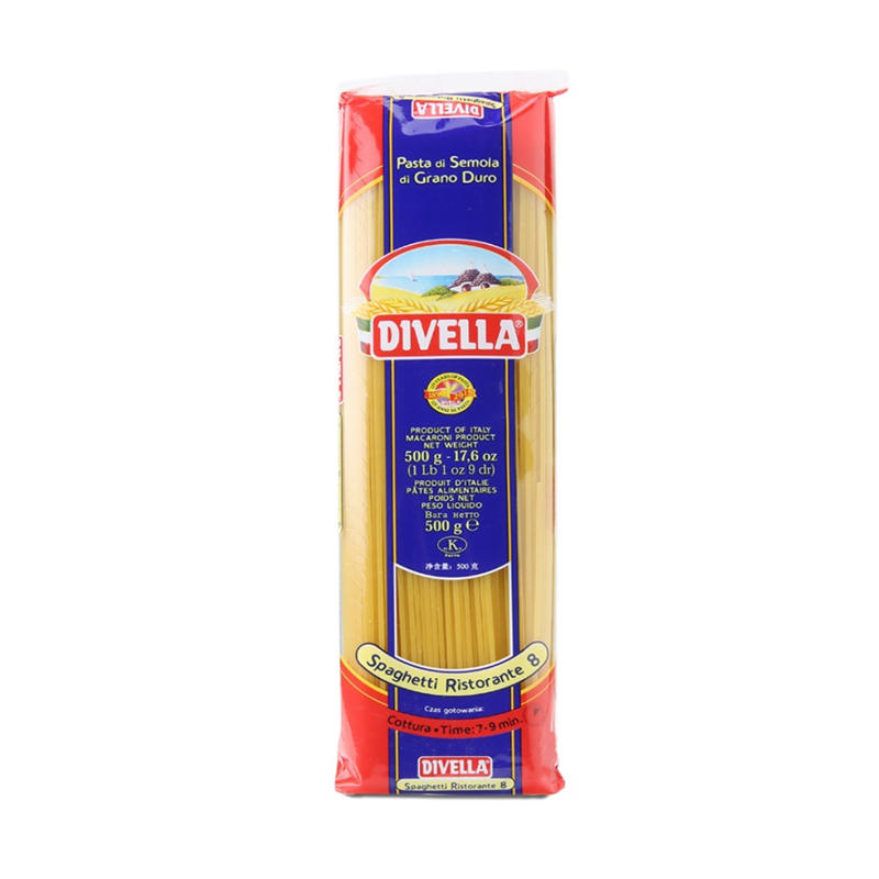 Mì Ý sợi tròn Spaghetti số 8 Divella - 500g