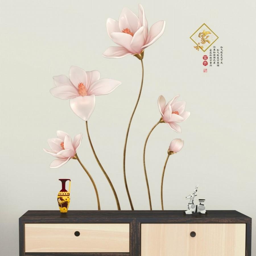 Decal dán tường hoa búp hồng - HP36