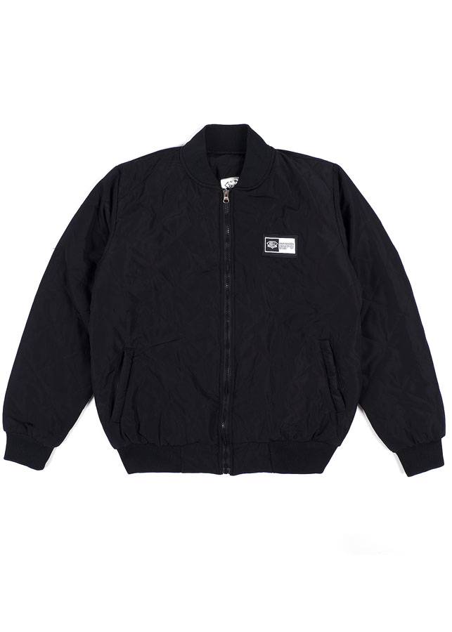 Áo nữ QUILTED BOMBER JACKET IN BLACK