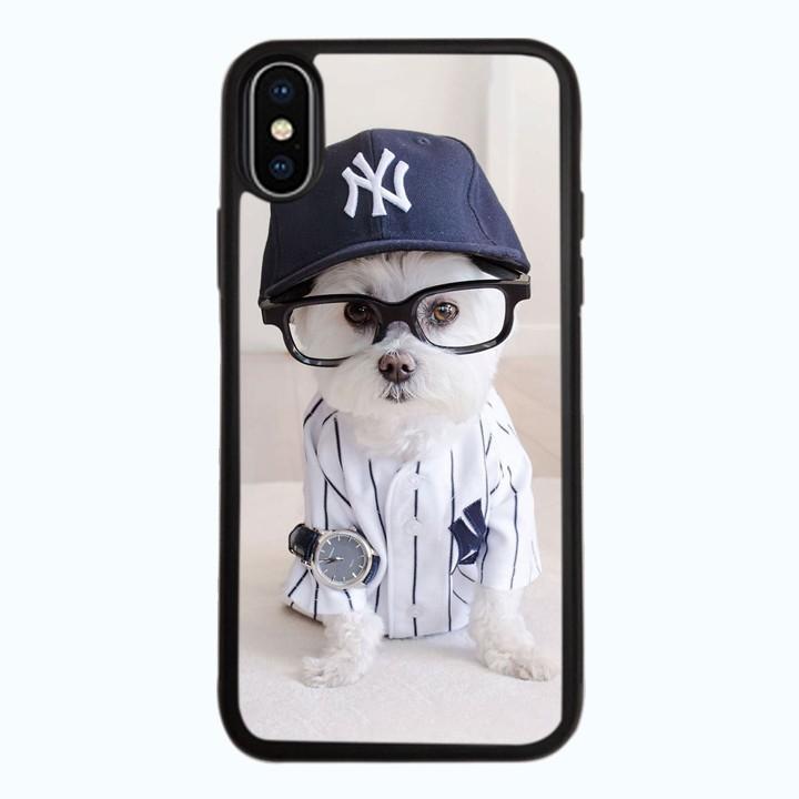 Ốp Lưng Kính Cường Lực Dành Cho Điện Thoại iPhone X Puppy Cute Mẫu 8
