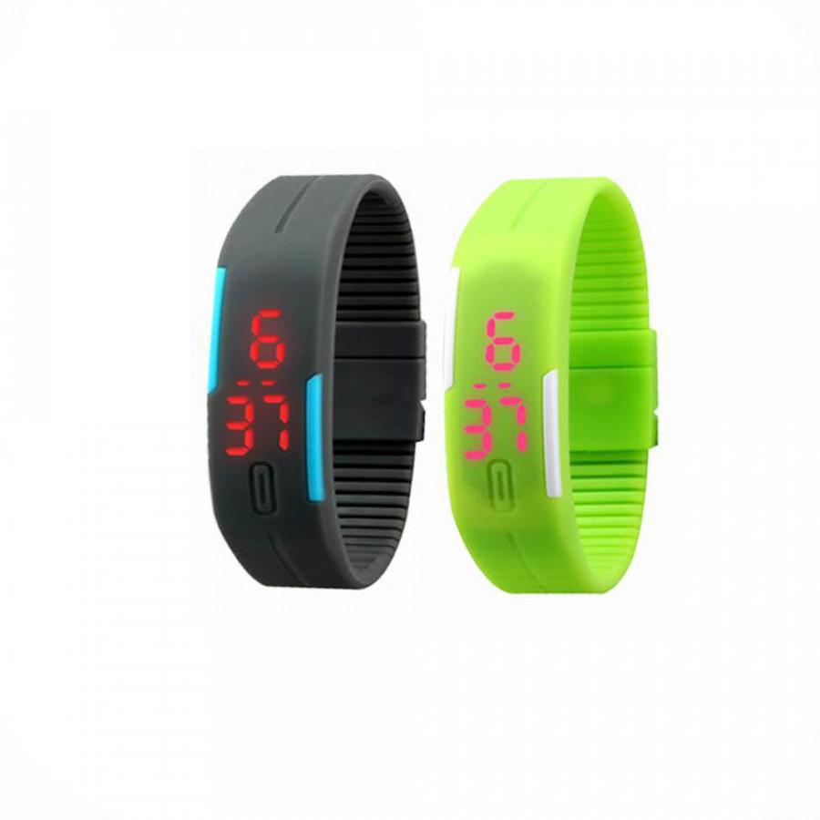 Bộ 2 Đồng hồ thể thao cảm ứng dây silicon cao cấp (Khác màu ngẫu nhiên)