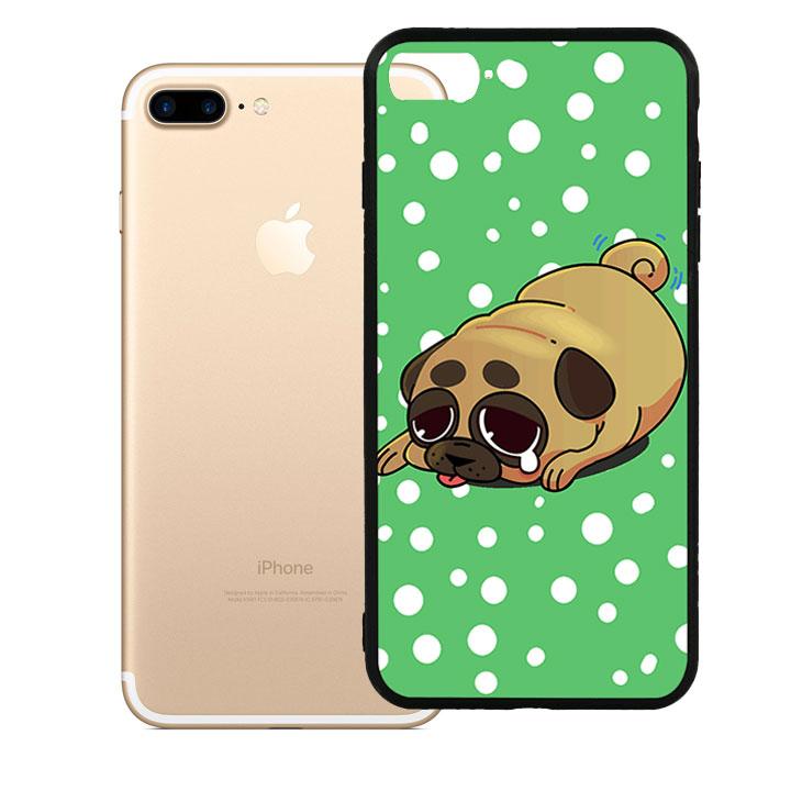 Ốp lưng viền TPU cao cấp dành cho iPhone 7 Plus - Dog Cry 02