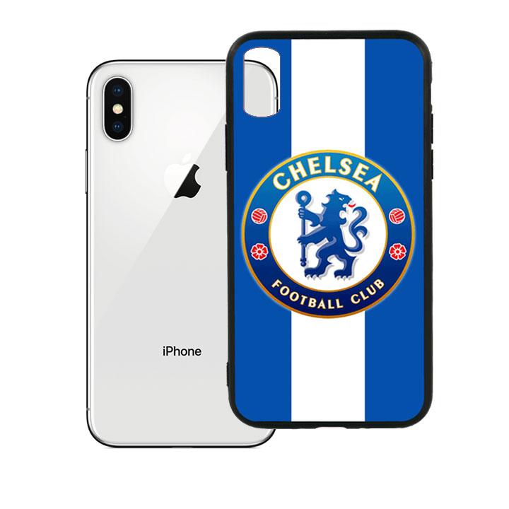 Ốp lưng viền TPU cao cấp dành cho iPhone X - Clb Chelsea 01