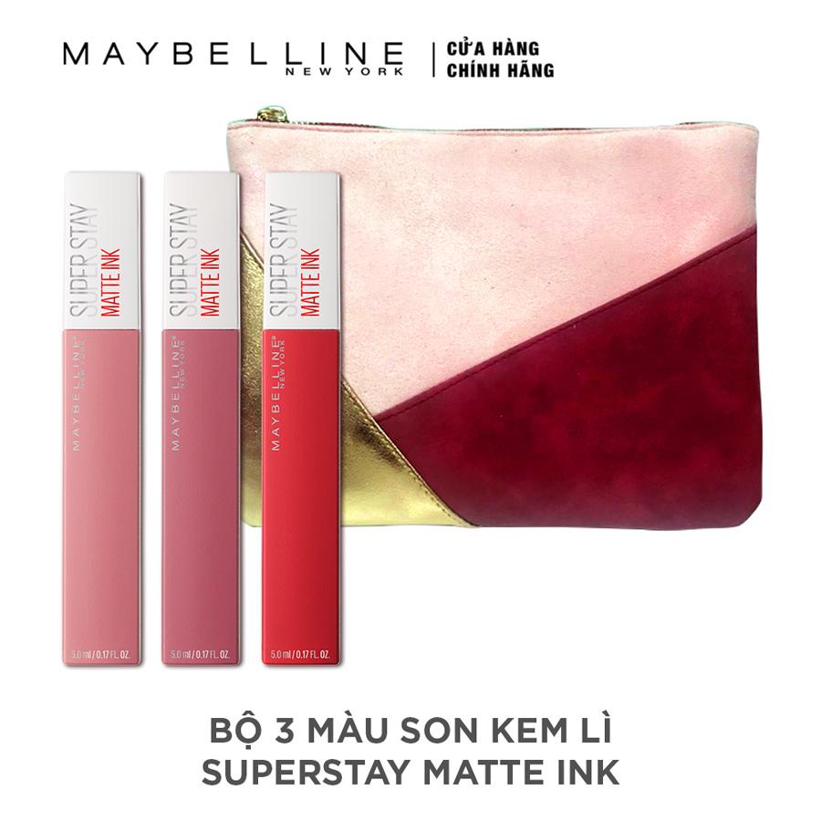 Bộ Ba Son Kem Lì Super Stay Matte Ink Từ Maybelline New York