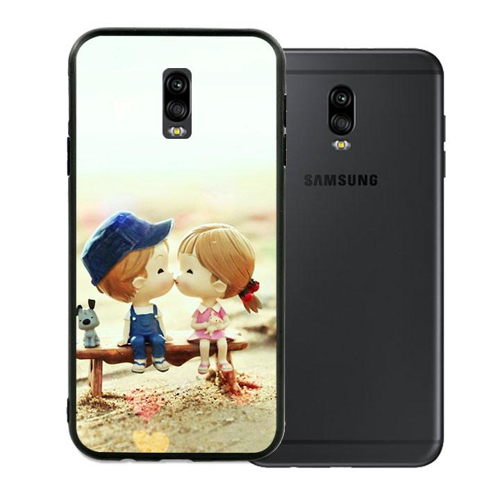 Ốp lưng viền TPU cao cấp dành cho Samsung Galaxy J7 Pro - Kiss Love 03
