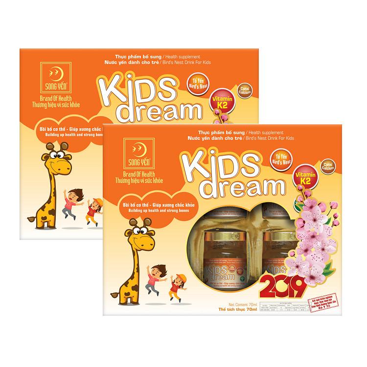 Combo 2 Nước Yến Dành Cho Trẻ Em Kids Dream (Lốc 6 x 70ml)