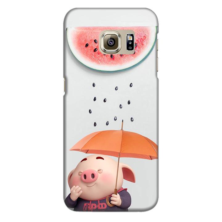 Ốp lưng nhựa cứng nhám dành cho Samsung Galaxy S7 Edge in hình Mưa Dưa Hấu