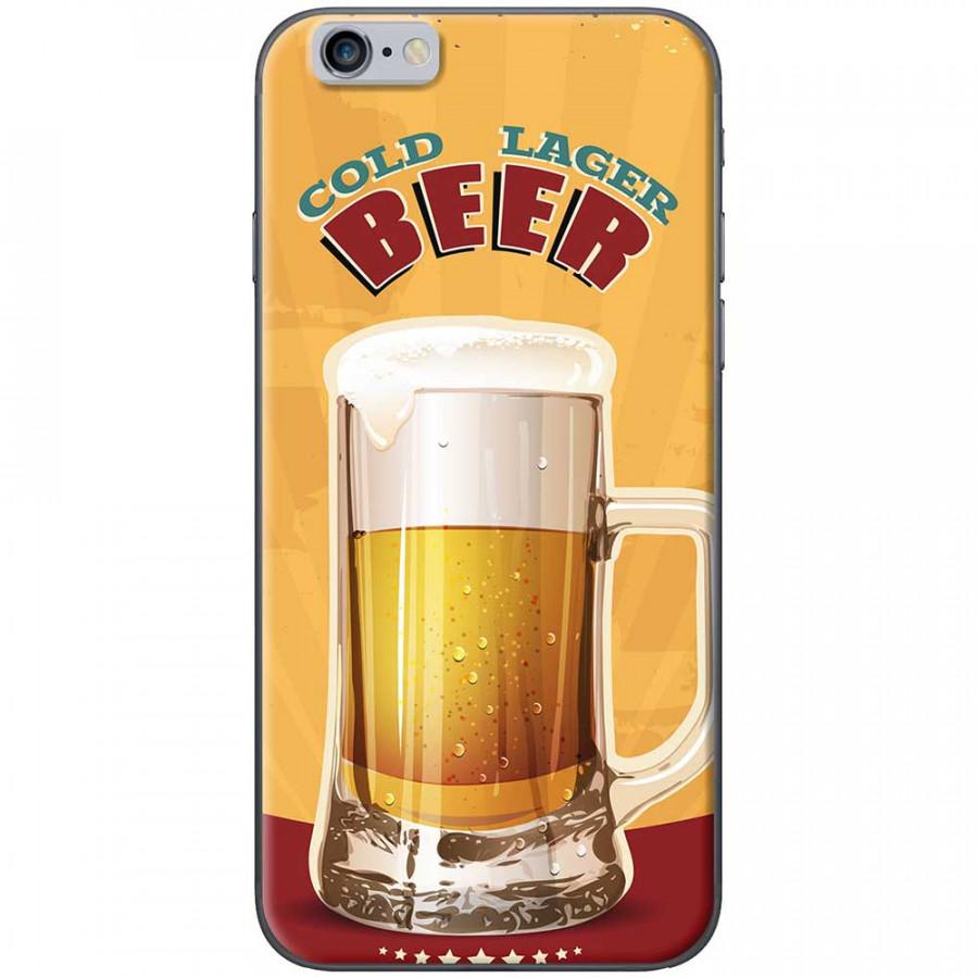 Ốp lưng dành cho iPhone 6 Plus, iPhone 6S Plus mẫu Ly bia nền vàng