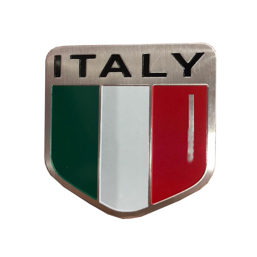 Tem nhôm cờ Ý trang trí ô tô , xe máy ( KT 5 x5 cm)
