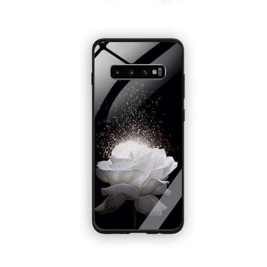 Ốp Lưng Kính Cường Lực cho điện thoại Samsung Galaxy S10 Plus - 0324 ROSE03