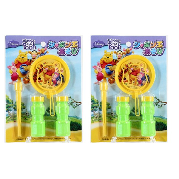 Combo 2 bộ thổi bong bóng xà phòng Pooh nội địa Nhật Bản