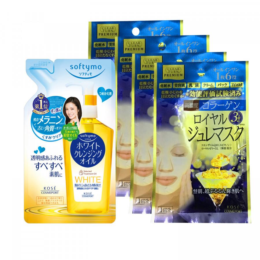 Bộ mỹ phẩm Kosé Cosmeport: Refill Dầu tẩy trang loại bỏ tế bào chết 200ml + Refill 4 miếng Mặt nạ sữa ong chúa đa... - 754207 , 3906679619420 , 62_7823142 , 560000 , Bo-my-pham-Kose-Cosmeport-Refill-Dau-tay-trang-loai-bo-te-bao-chet-200ml-Refill-4-mieng-Mat-na-sua-ong-chua-da...-62_7823142 , tiki.vn , Bộ mỹ phẩm Kosé Cosmeport: Refill Dầu tẩy trang loại bỏ tế bào chết 200