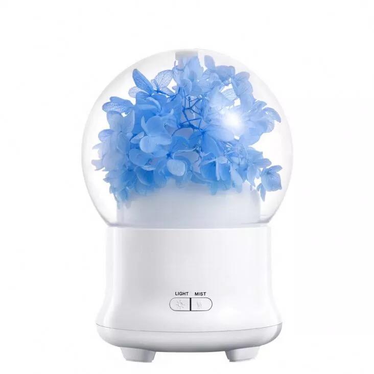 Máy phun sương tinh dầu Flower Tặng kèm tinh dầu 10mL ( hương ngẫu nhiên)