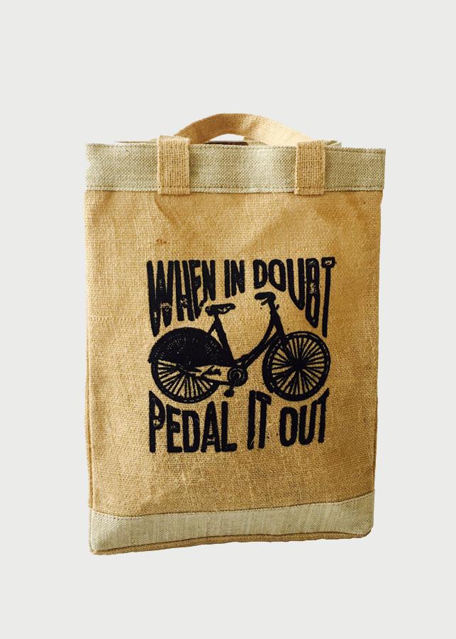 Túi vải đay in xe đạp
