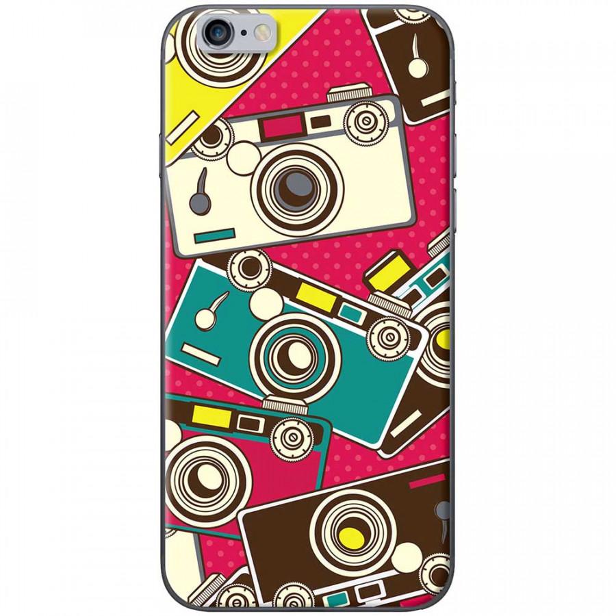 Ốp lưng dành cho iPhone 6 Plus, iPhone 6S Plus mẫu Máy ảnh nền hồng