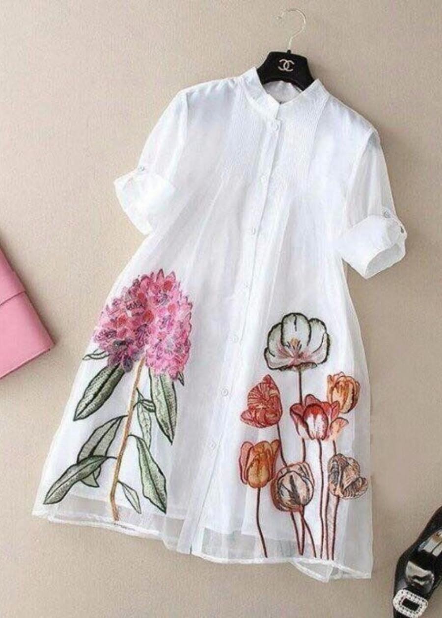 Đầm Suông In Hoa TuLip Kèm Đầm Lót 2 Dây TD195