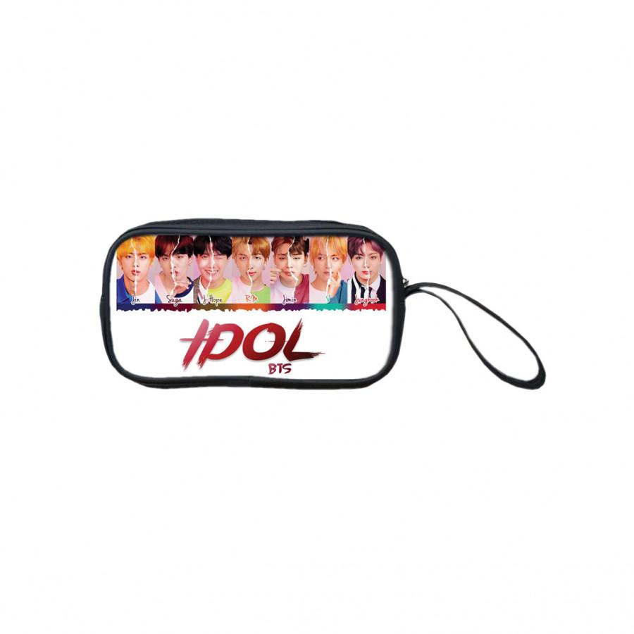 Bóp đựng bút viết, mỹ phẩm TROY in hình nhóm nhạc BTS H2