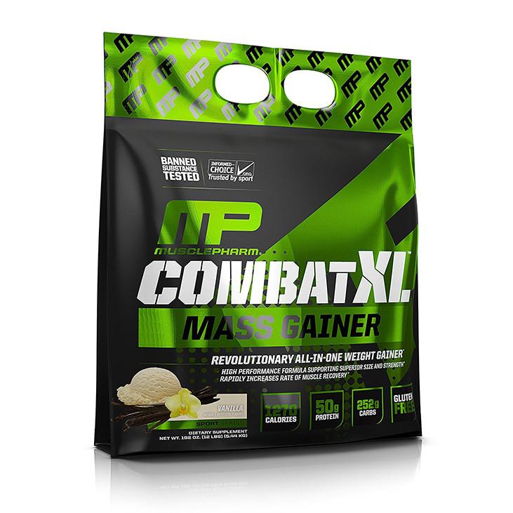 Sữa Tăng Cân Vị Vanilla Combat XL Mass Gainer Muscle Pharm 5.45kg