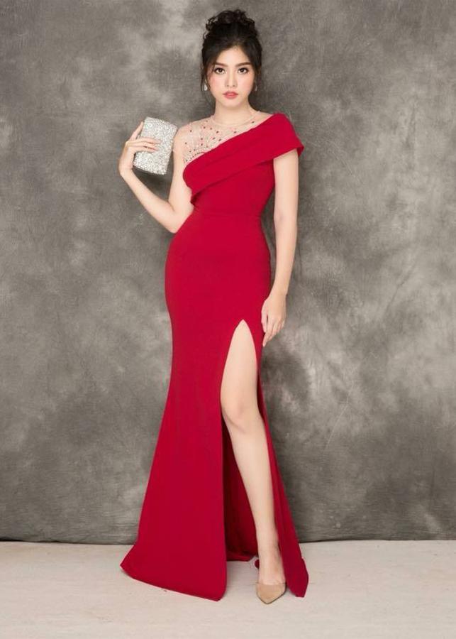 Đầm Dạ Hội Xẻ Đùi Cô Đính Đá VD735 - V265