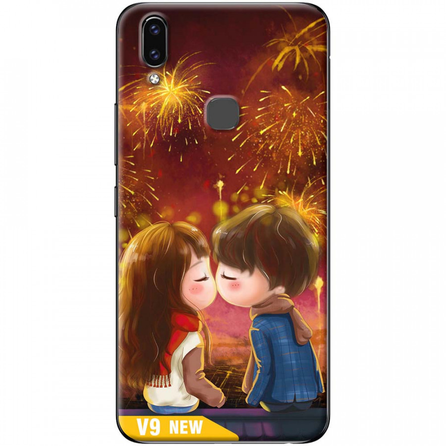 Ốp lưng dành cho Vivo V9 mẫu Nụ hôn pháo hoa