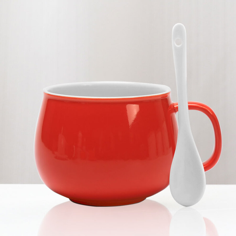 Cheng Wenge ceramic creative coffee cup couple mug cup cup milk cup with spoon with handle orange - 1910690 , 7195054113905 , 62_10262590 , 127000 , Cheng-Wenge-ceramic-creative-coffee-cup-couple-mug-cup-cup-milk-cup-with-spoon-with-handle-orange-62_10262590 , tiki.vn , Cheng Wenge ceramic creative coffee cup couple mug cup cup milk cup with spoon