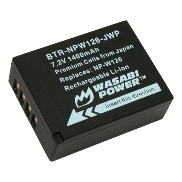 Pin Wasabi NP-W126 Cho Fujifilm X-E1 X-A2 X-M1 X-T1 (Đen) -  Hàng Nhập Khẩu