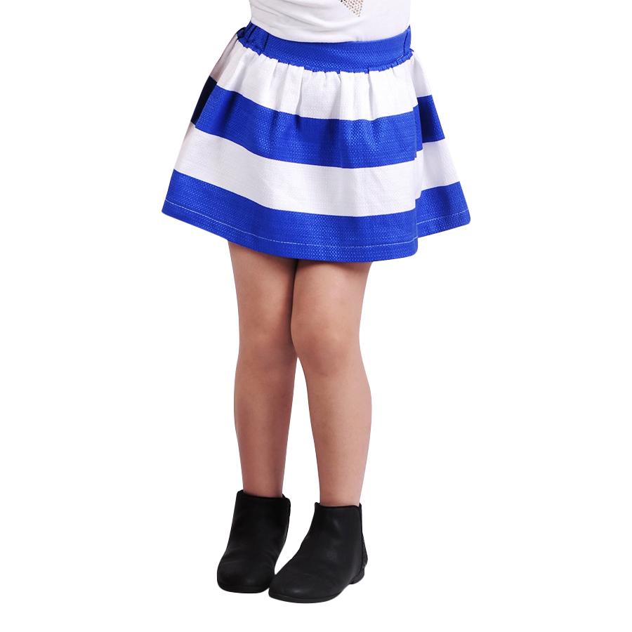 Chân Váy Bé Gái Sọc Xanh Trắng Ugether UKID32 - Sọc Xanh Trắng