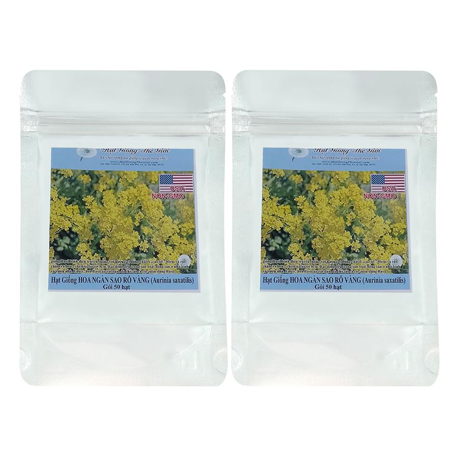 Bộ 2 túi Hạt Giống Hoa Ngàn Sao - Rổ Vàng (Aurinia saxatilis Compacta) (50 hạt / túi)