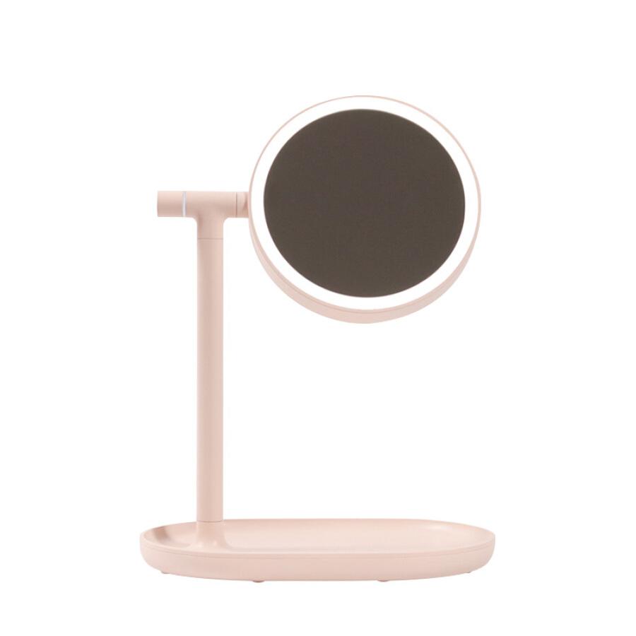 Gương Trang Điểm Đèn LED Sạc Bàn MUID