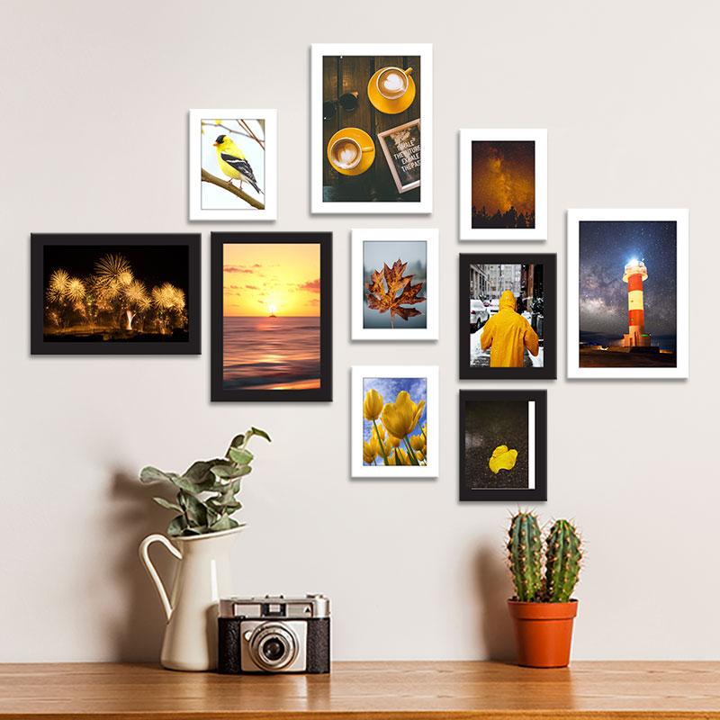 Bộ 10 khung hình composite sắc vàng WK168
