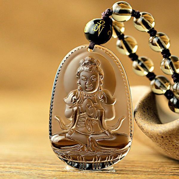 Dây Chuyền Vòng Cổ Phật Bản Mệnh Phù Hợp Tuổi Mùi Và Thân TÂM THÀNH PHÁT- Free Size