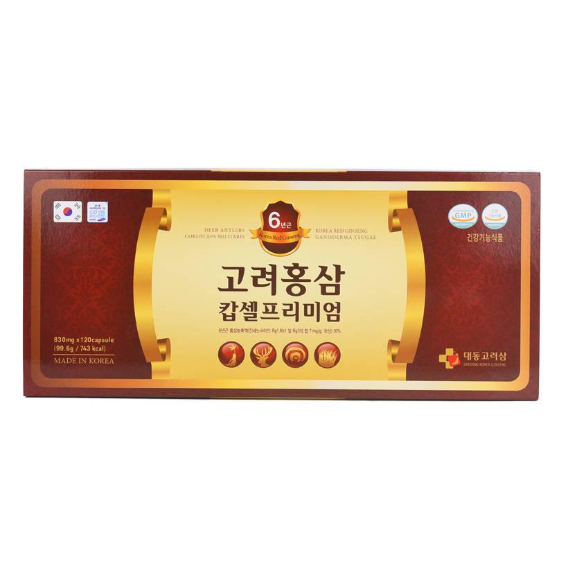 Thực phẩm chức năng Viên uống Daedong Korea Ginseng Tổng hợp Hồng sâm 6 tuổi, Nhung hươu, Đông trùng hạ thảo và...