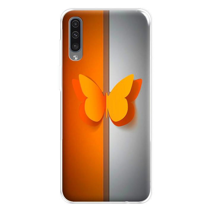 Ốp lưng dẻo cho điện thoại Samsung Galaxy A50 - 224 0095 BUTTERFLY