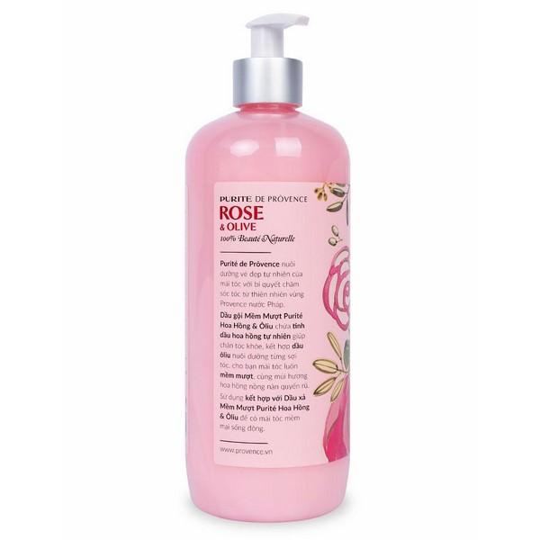 Dầu Gội Mềm Mượt Purite By Provence Rose  Olive Normal Hair (650ml)