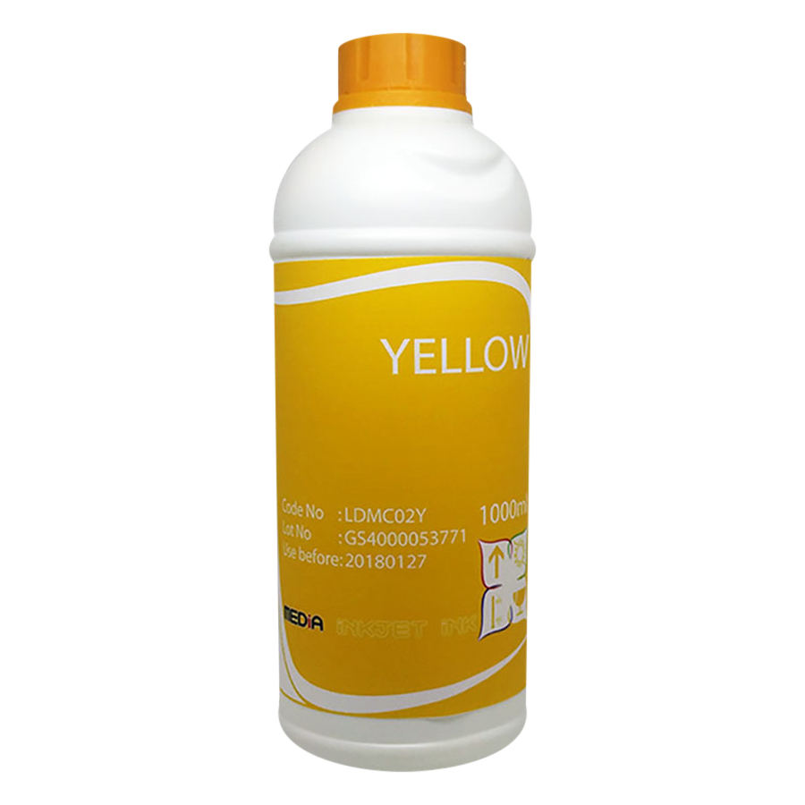 Mực In Màu Media DYE UV Màu Vàng Cho Máy In Epson 1000ml (Y) - Hàng Chính Hãng