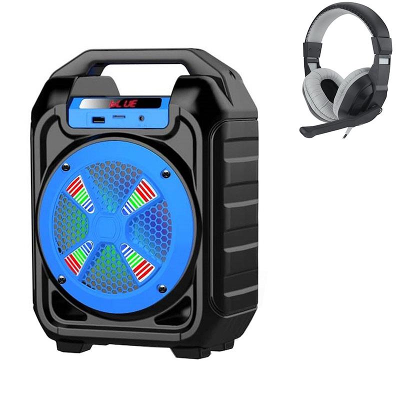 Combo Loa Bluetooth Xách Tay Đa Năng B302 + Tai nghe chụp tai kèm mic đàm thoại CT-770 (Màu Ngẫu Nhiên)