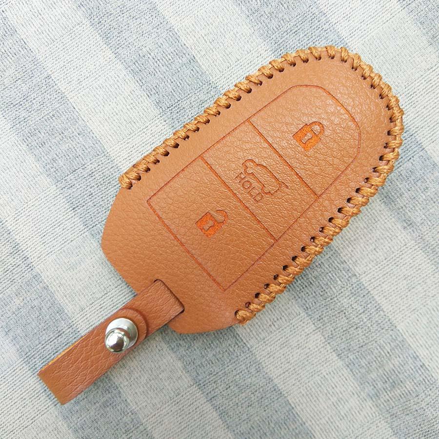 Bao da chìa khóa smartkey xe hơi Peugeot