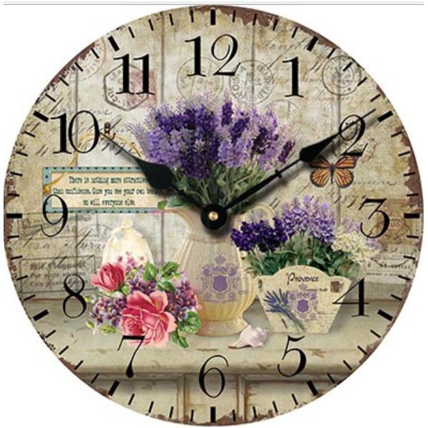 Đồng hồ treo tường Vintage Phong cách Châu Âu hình tròn DH11 hoa Lavender - 1862975 , 6814875662713 , 62_14134820 , 365000 , Dong-ho-treo-tuong-Vintage-Phong-cach-Chau-Au-hinh-tron-DH11-hoa-Lavender-62_14134820 , tiki.vn , Đồng hồ treo tường Vintage Phong cách Châu Âu hình tròn DH11 hoa Lavender